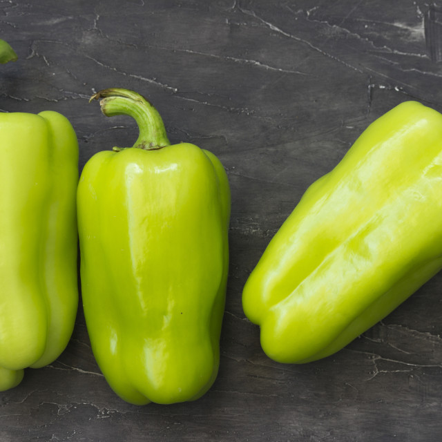 """""""Fresh green peppers"""" stock image"""