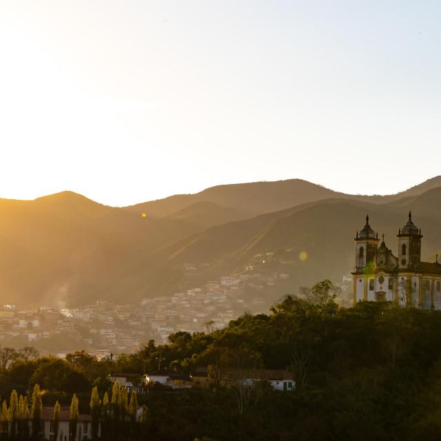 """The city of Ouro Preto"" stock image"