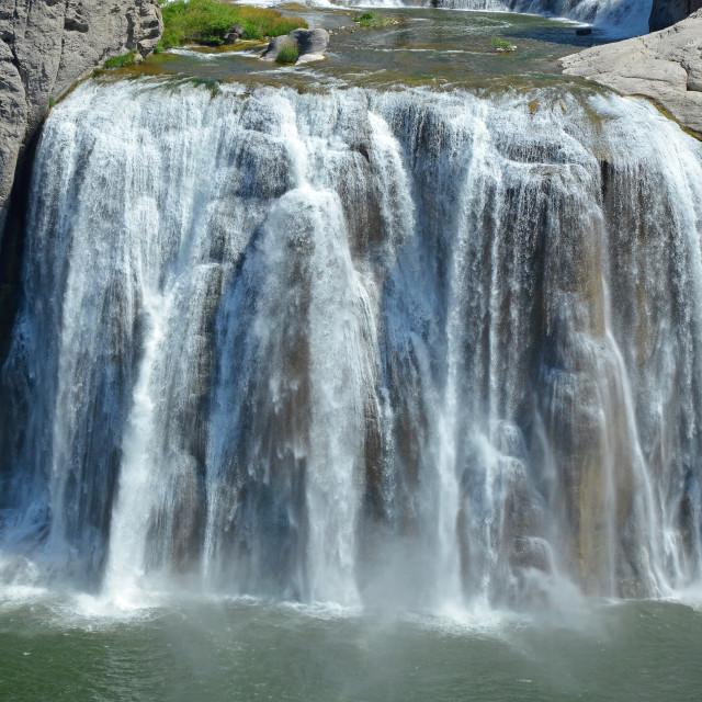 """Shoshone falls in Idaho"" stock image"