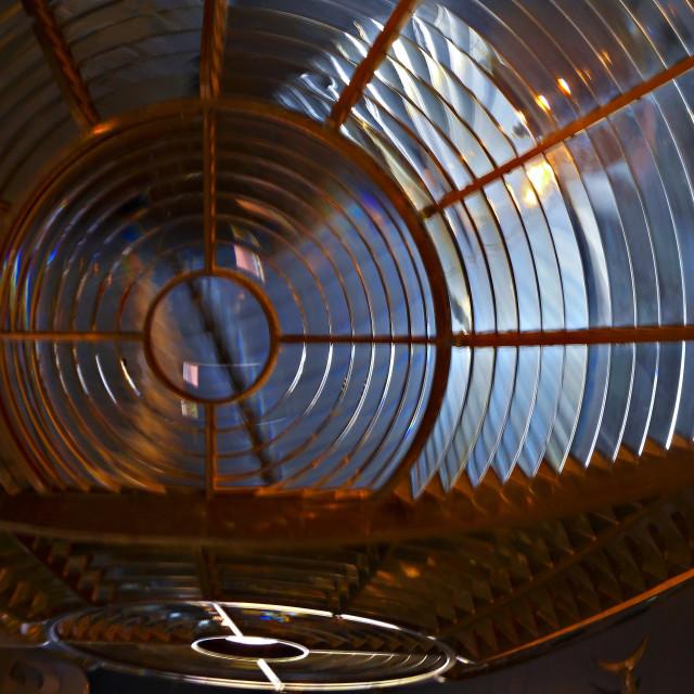 """""""fresnel lighthouse lens"""" stock image"""