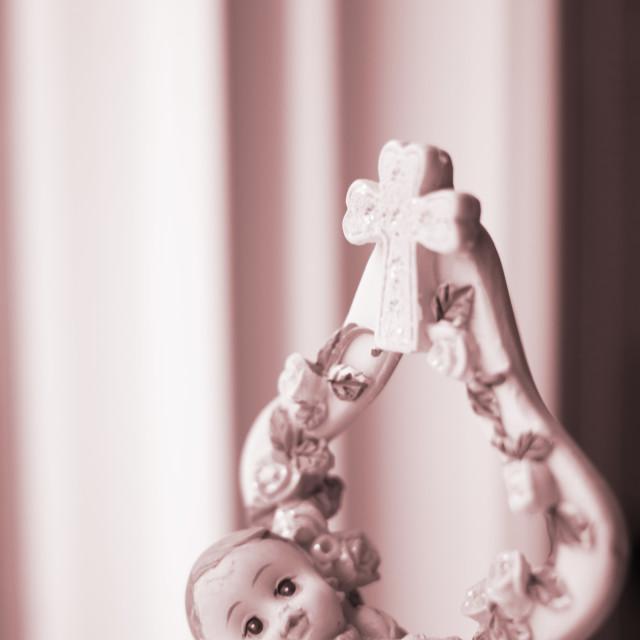 """""""Cake topper Christian baptism"""" stock image"""