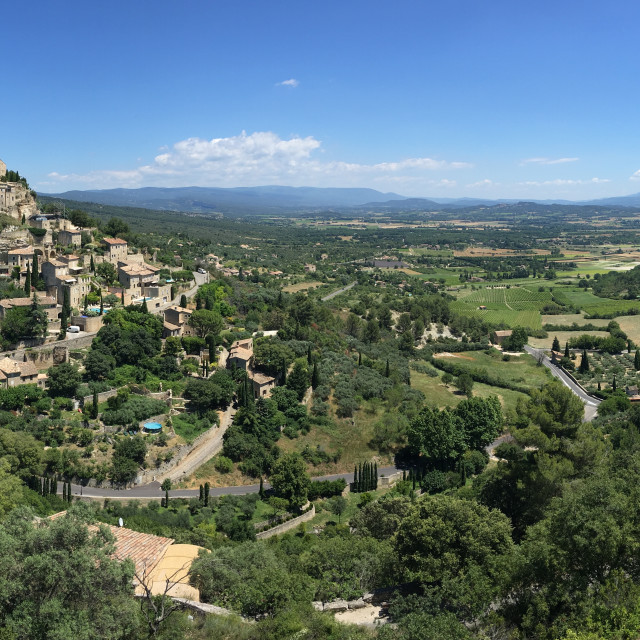 """Gordes and south east Vaucluse"" stock image"