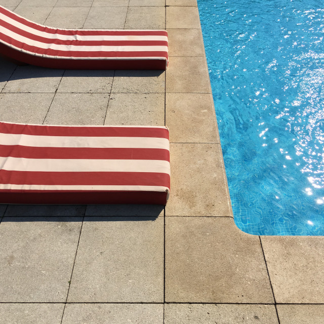 """Pool and pool chairs 2"" stock image"