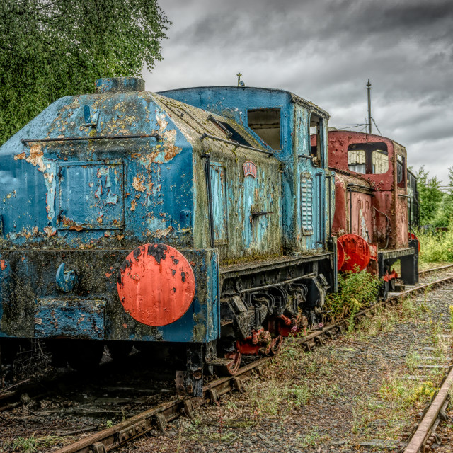 """Retired Locos"" stock image"