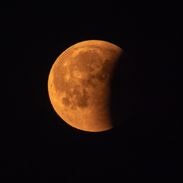 """Lunar eclipse, blood moon"" stock image"