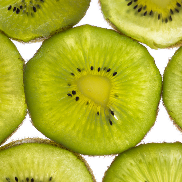 """Kiwifruit Greens"" stock image"