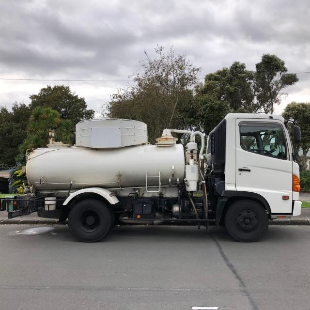 """Sewage Truck"" stock image"