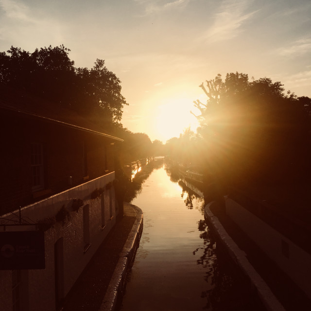 """""""Little Venice Canal in Sunset"""" stock image"""