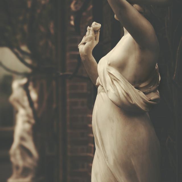 """Wintergarden statues"" stock image"