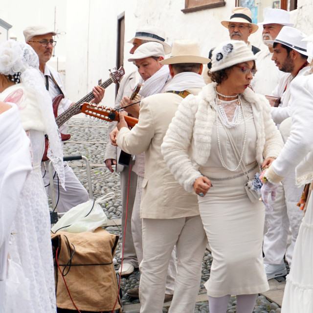 """Los Indianos festivities, La Palma"" stock image"