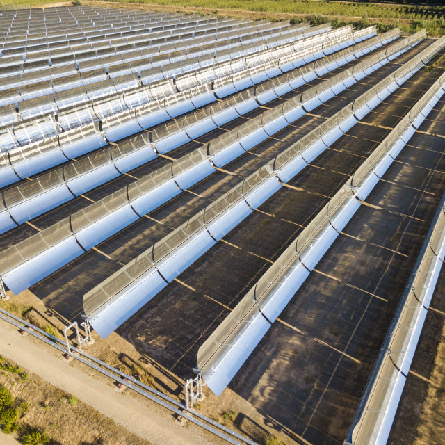 """""""Aerial view of solar power station"""" stock image"""