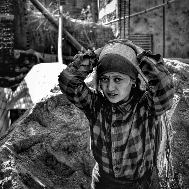 """""""Female labour worker"""" stock image"""