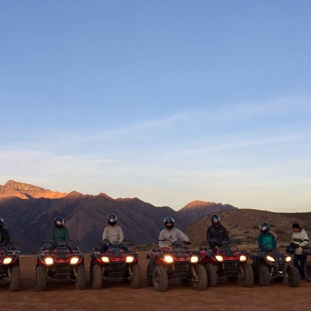 """""""Quad Biking in Peru"""" stock image"""