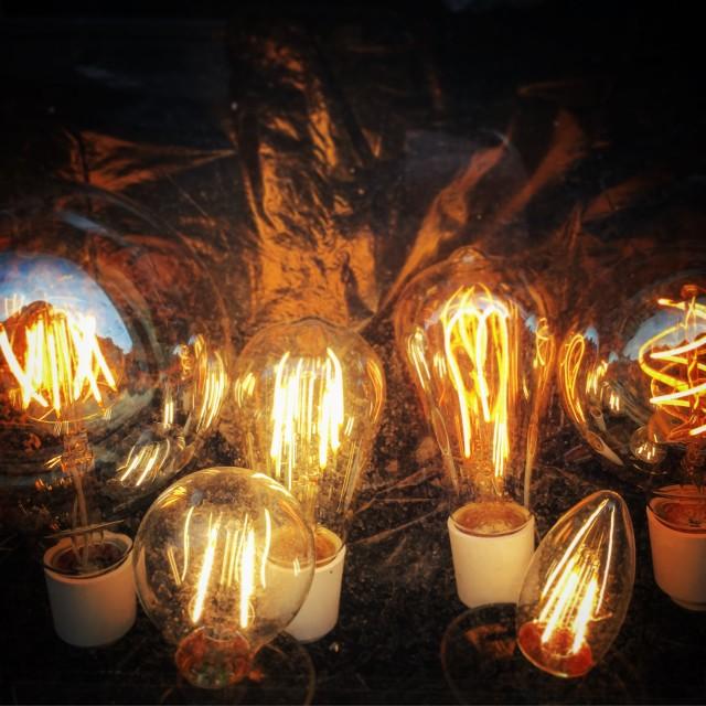 """Old lightbulbs"" stock image"