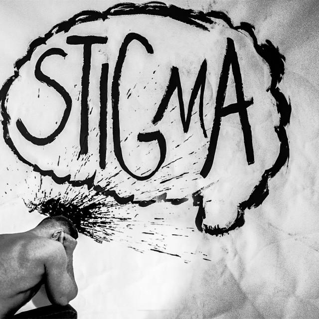 """""""Stigma - Mental Health for Men"""" stock image"""