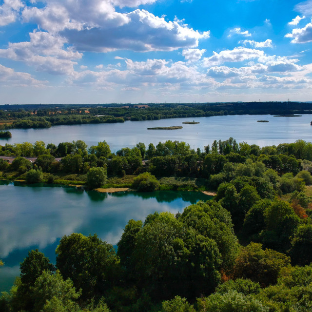 """Theale lakes, Berkshire"" stock image"