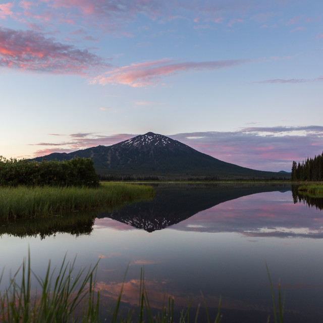 """Mount Bachelor Sunrise"" stock image"