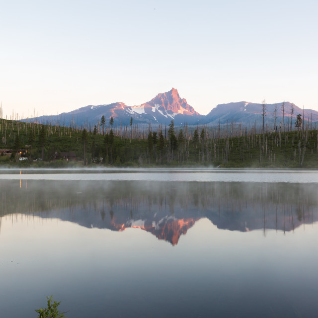 """Mountain Lake Reflection"" stock image"