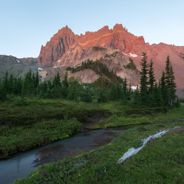 """Mountain Meadow Sunrise"" stock image"