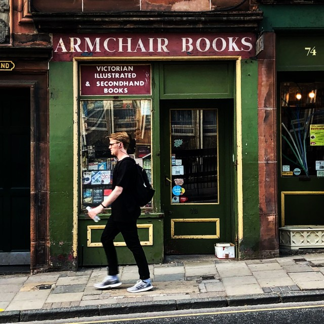 """Armchair Books in Edinburgh"" stock image"