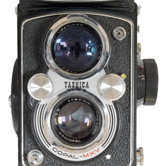 """Yashica-Mat twin lens reflex"" stock image"
