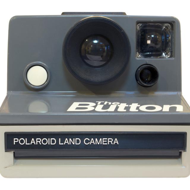 """""""Polaroid, The Button"""" stock image"""