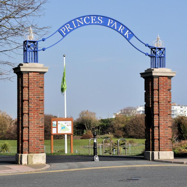 """""""Princes Park Eastbourne"""" stock image"""