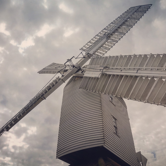 """Thorpeness windmill"" stock image"