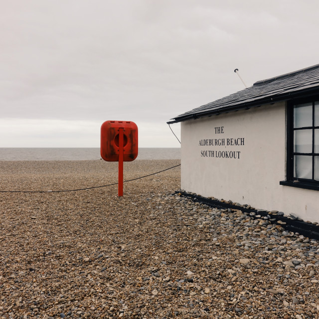 """Aldeburgh beach"" stock image"