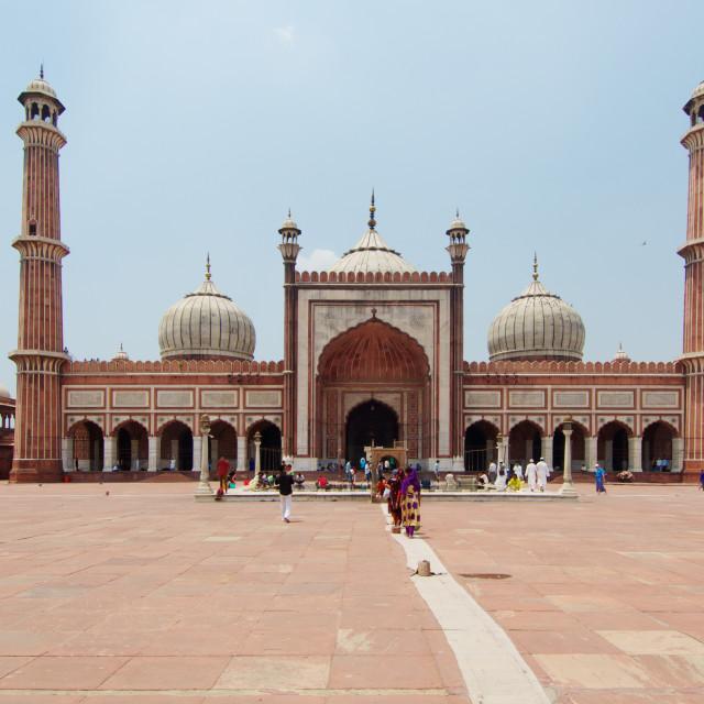 """Jama Masjid, main muslim mosque in Delhi, India"" stock image"