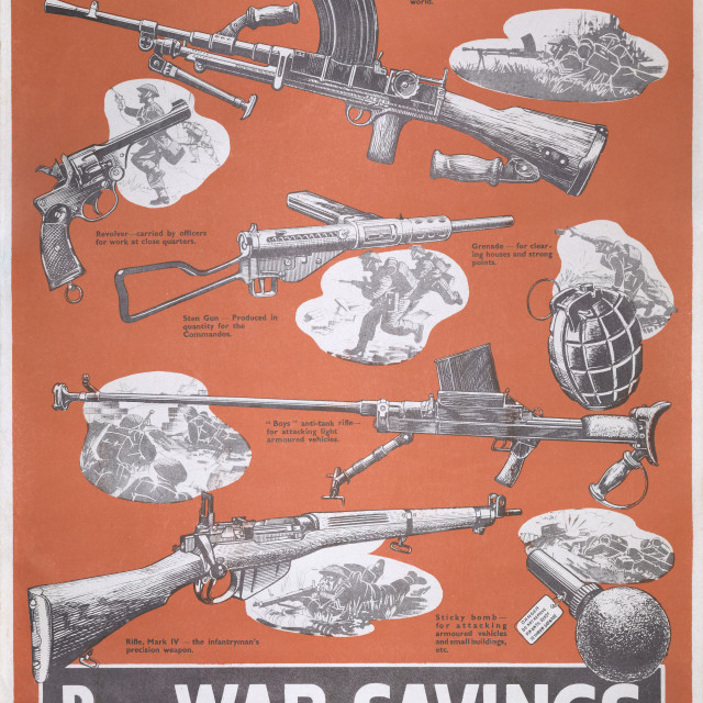 """Reprint of British wartime poster."" stock image"