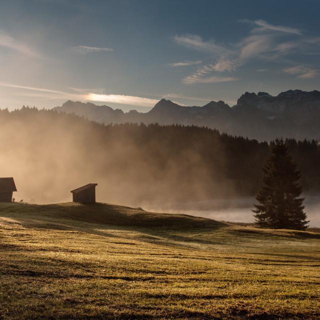"""""""Ráno na Geroldsee"""" stock image"""