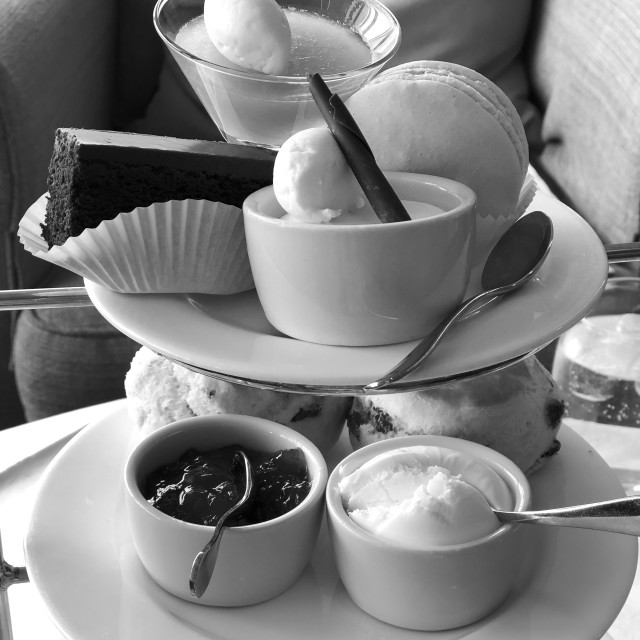 """4 PM English Tea bw"" stock image"