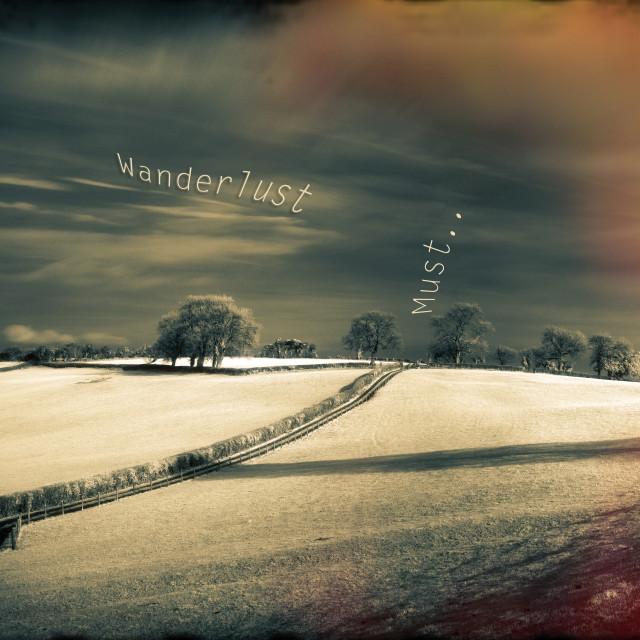 """I Wander because..."" stock image"