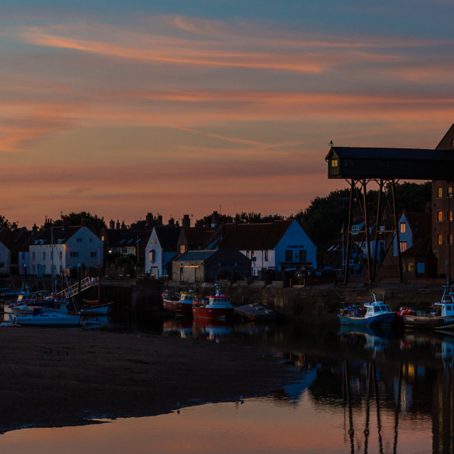"""""""Dawn over Wells next the Sea, Norfolk"""" stock image"""