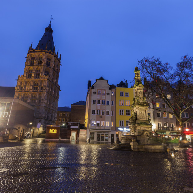 """""""Town Hall Tower on Alter Markt in Cologne"""" stock image"""