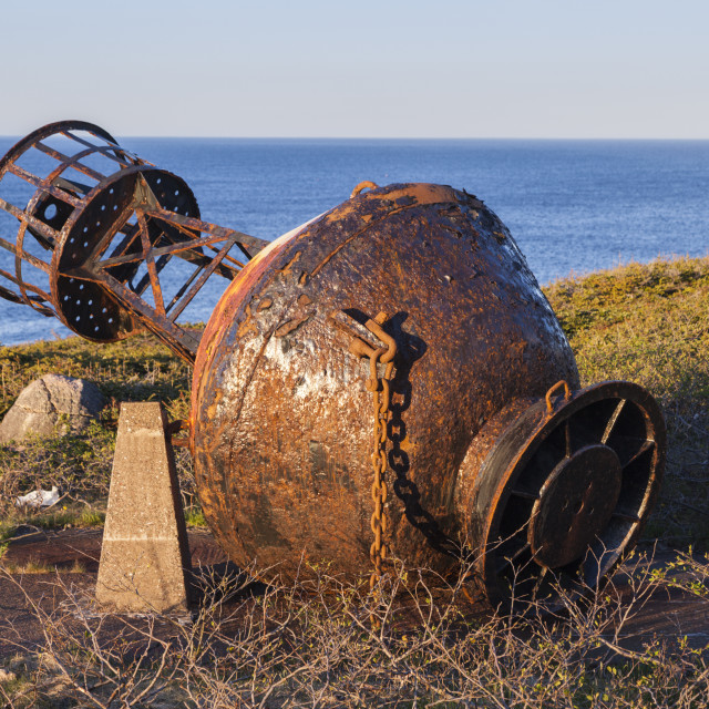 """""""Old buoy in Saint Pierre"""" stock image"""