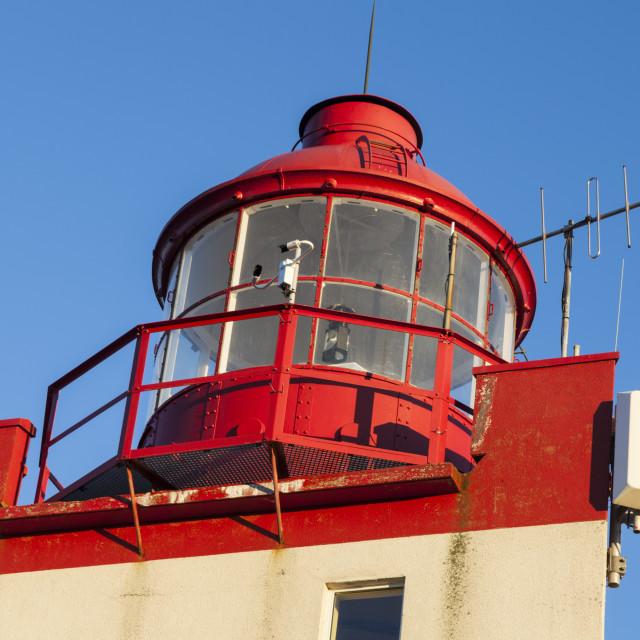 """Tete de Galantry Lighthouse in Saint Pierre"" stock image"