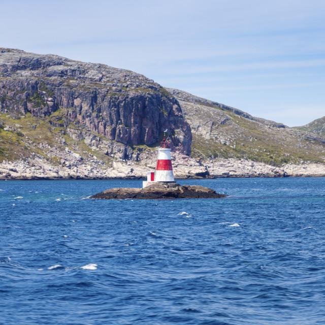 """Rocher Petite Saint Pierre Lighthouse"" stock image"