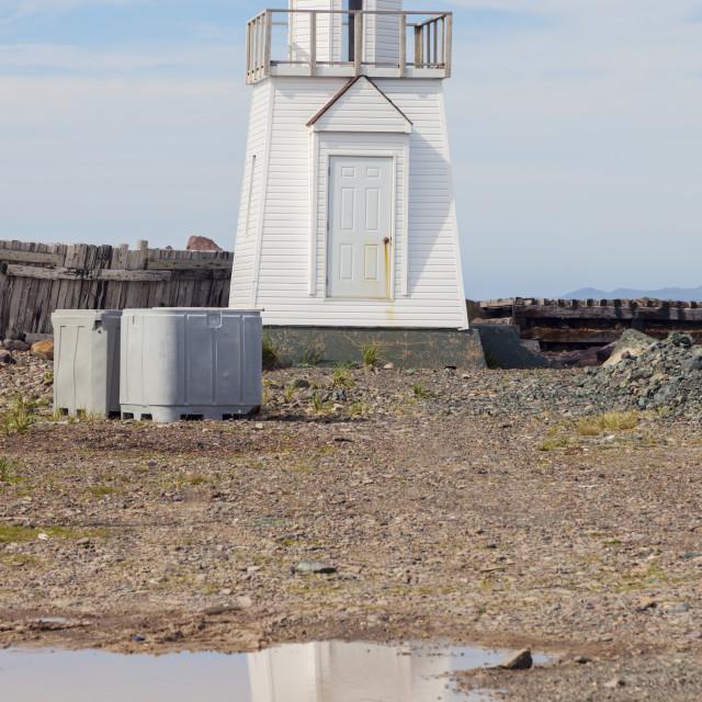 """""""Garnish Lighthouse, Newfoundland"""" stock image"""