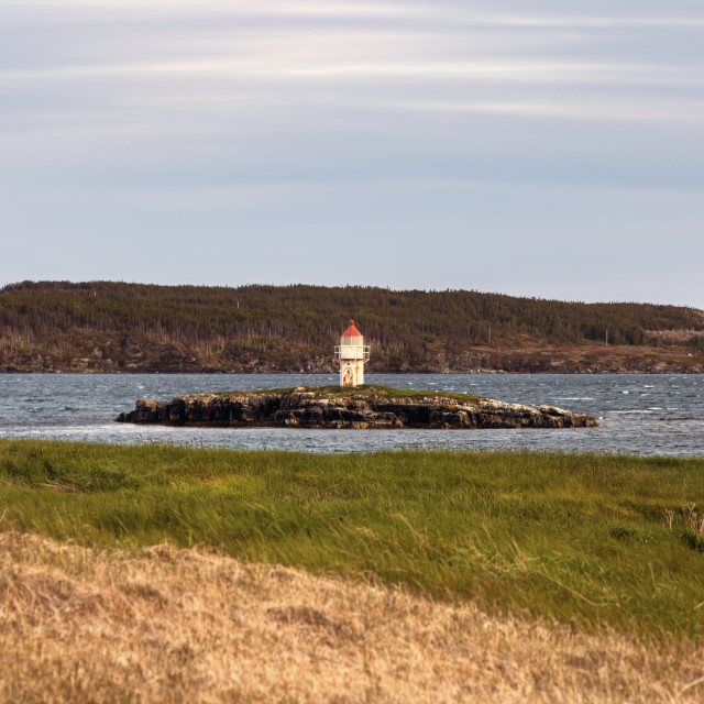 """""""Manuel Island Lighthouse, Newfoundland"""" stock image"""