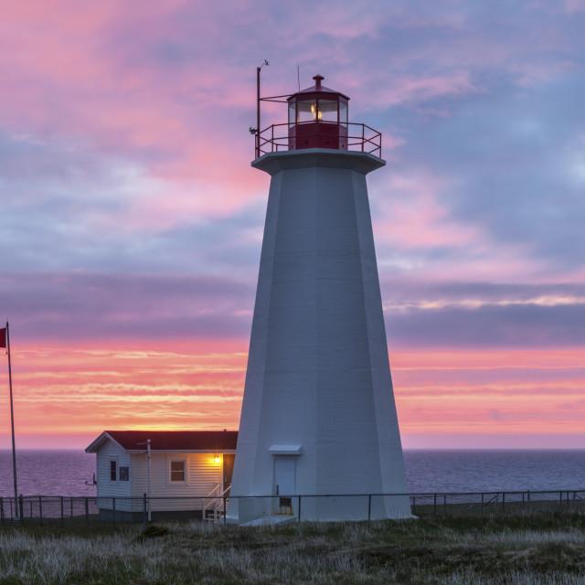 """Cape Anguille Lighthouse, Newfoundland"" stock image"