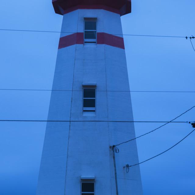 """""""Cape Ray Lighthouse, Newfoundland"""" stock image"""