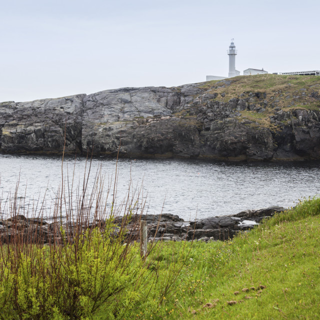 """""""Channel Head Lighthouse in Channel-Port aux Basques, Newfoundland"""" stock image"""