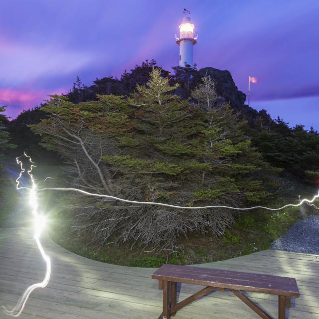 """Lobster Cove Head Lighthouse, Newfoundland"" stock image"