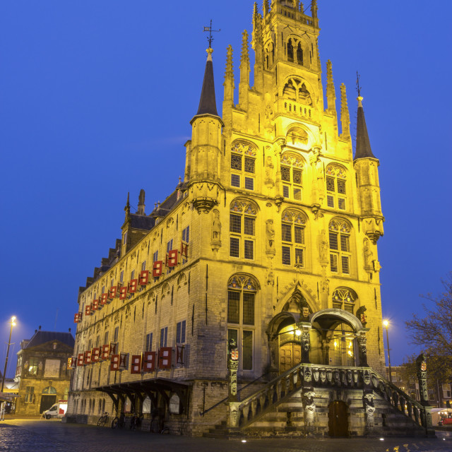 """""""City Hall in Gouda"""" stock image"""