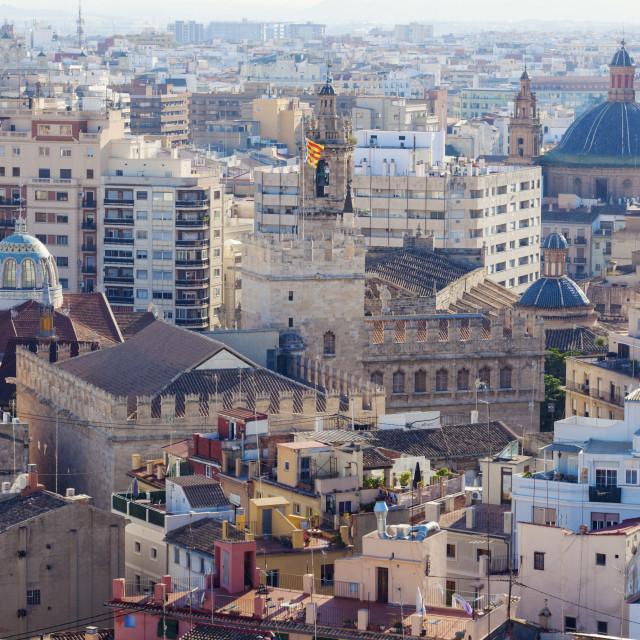 """""""Aerial panorama of Valencia"""" stock image"""