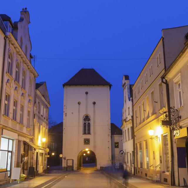 """""""Grudziadz Gate in Chelmno"""" stock image"""