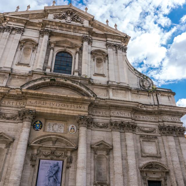 """""""Jesuit Church in Rome"""" stock image"""