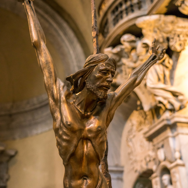 """Jesus crucified on the cross"" stock image"